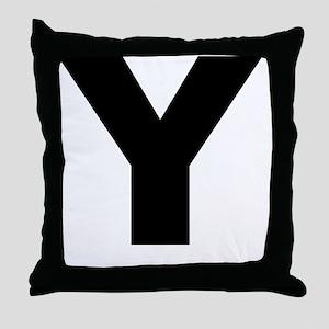 arial-black-black-y Throw Pillow