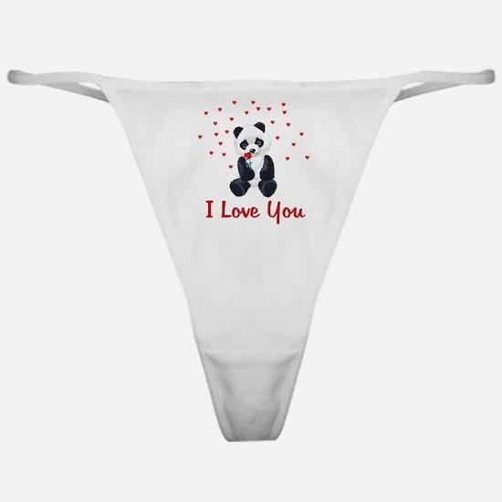 Panda Bear Love Classic Thong