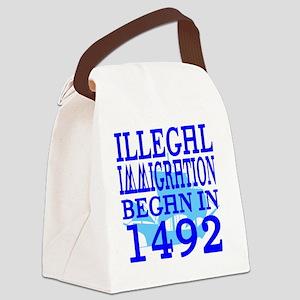 1492-blue-bb-blue Canvas Lunch Bag