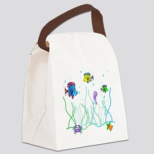 Under the Sea Design Canvas Lunch Bag