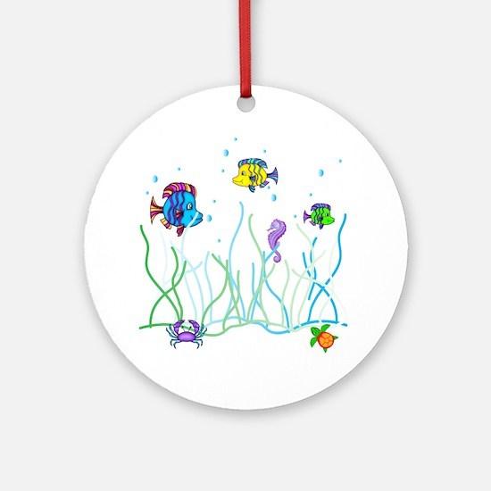 Under the Sea Design Round Ornament