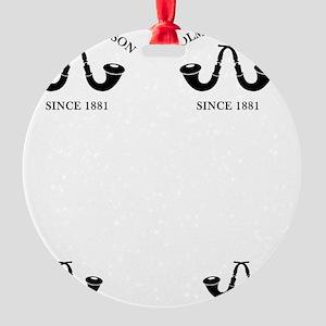 holmesandwatsonflip Round Ornament