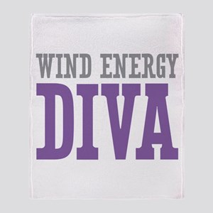 Wind Energy DIVA Throw Blanket