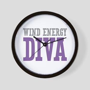Wind Energy DIVA Wall Clock