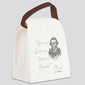 Give Me Liberty Or Death Canvas Lunch Bag