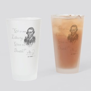 Give Me Liberty Or Death Drinking Glass