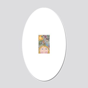 An Artists Mind 20x12 Oval Wall Decal