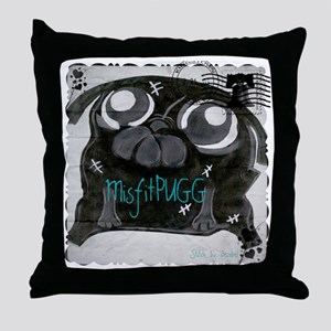 MisfitPUGGstamp Throw Pillow