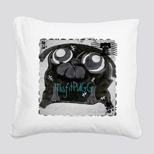MisfitPUGGstamp Square Canvas Pillow