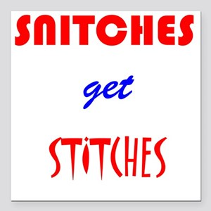 """Snitches Square Car Magnet 3"""" x 3"""""""