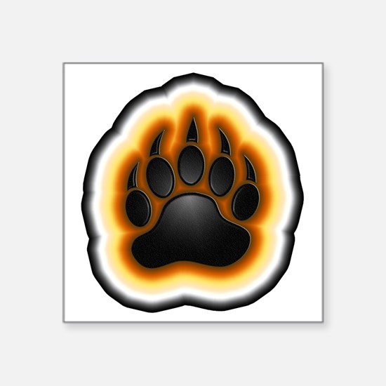 "paw 2 large Square Sticker 3"" x 3"""