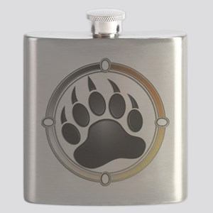 Bear Paw In Pride Circle Flask