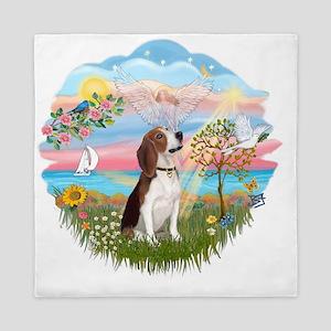 Autumn Angel - Beagle 2 Queen Duvet