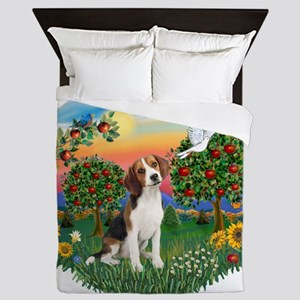 Bright Country - Beagle 1 Queen Duvet