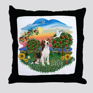 Bright Country - Beagle 1 Throw Pillow