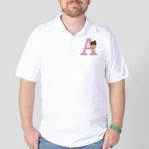 Pink A Ice Cream Cone Golf Shirt