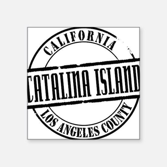 "Catalina Island Title W Square Sticker 3"" x 3"""