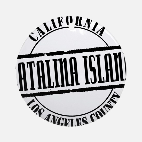 Catalina Island Title W Round Ornament