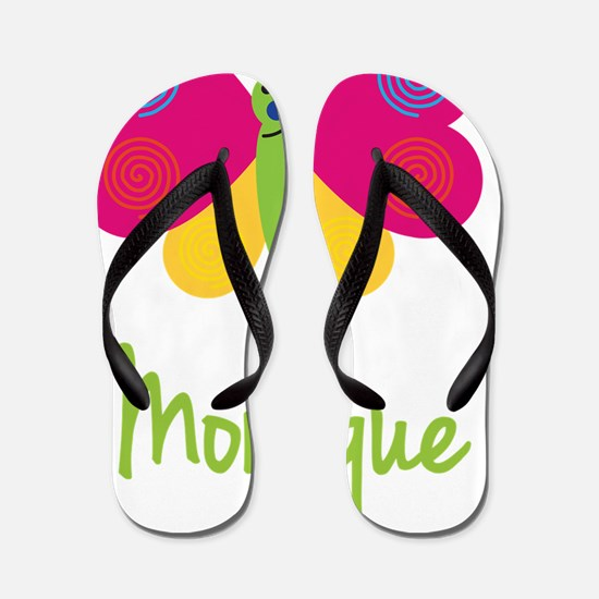 Monique-the-butterfly Flip Flops
