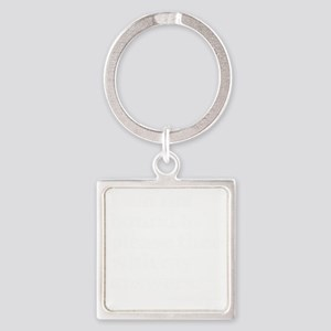 please answers dark Square Keychain