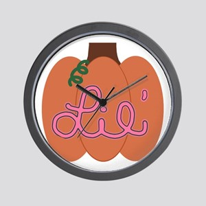 Lil Pumpkin Pink Wall Clock