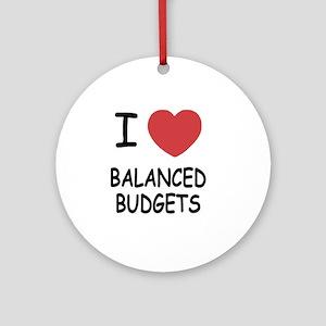 BALANCED_BUDGETS Round Ornament
