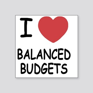 "BALANCED_BUDGETS Square Sticker 3"" x 3"""