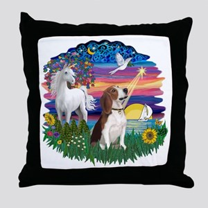 Magical Night - Beagle 2 Throw Pillow