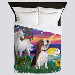Magical Night - Beagle 2 Queen Duvet