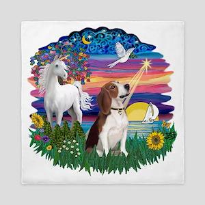 Magical Night - Beagle 2 Queen Duvet