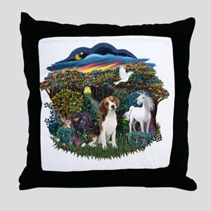 Woodland Magic - Beagle 1 Throw Pillow
