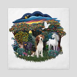 Woodland Magic - Beagle 1 Queen Duvet
