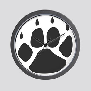 Pawprint_b Wall Clock