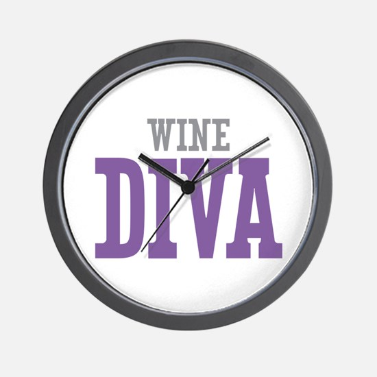 Wine DIVA Wall Clock