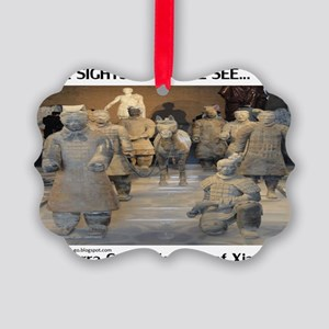 Terra Cotta Picture Ornament