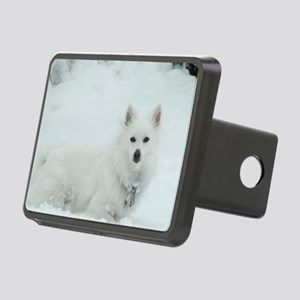 American Eskimo Dog Snow D Rectangular Hitch Cover