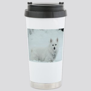 American Eskimo Dog Snow Day Stainless Steel Trave