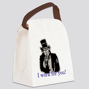 Uncle Sam- I work for you Canvas Lunch Bag