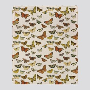 Vintage Butterfly Card Throw Blanket