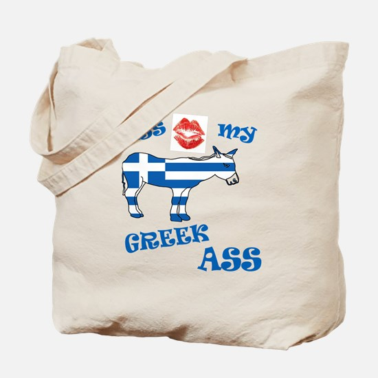 kiss my greek ass1a1 Tote Bag