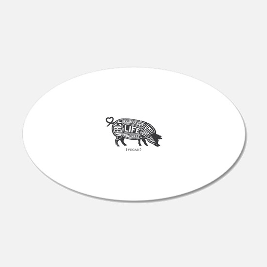 Pig-Gray Wall Decal
