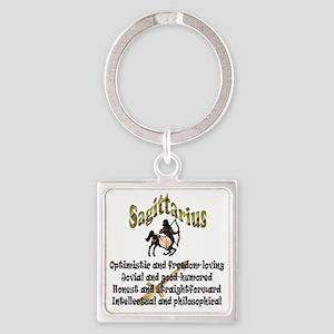 sagittarius Square Keychain