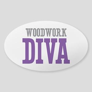 Woodwork DIVA Sticker (Oval)