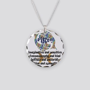pisces Necklace Circle Charm