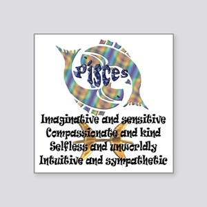 "pisces Square Sticker 3"" x 3"""