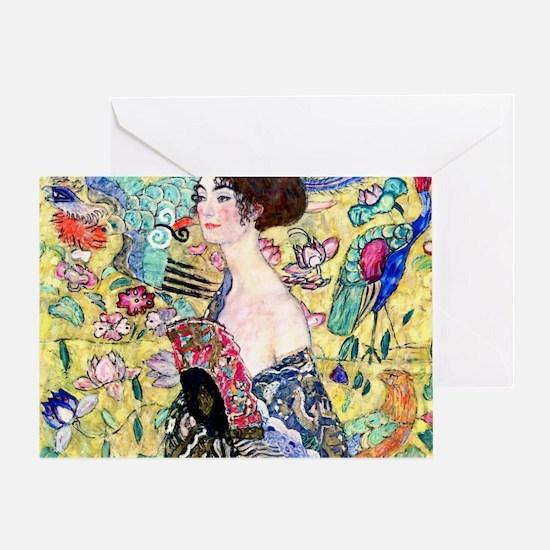 Klimt Cal 7 Greeting Card