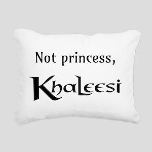 Not Princess, Khaleesi Rectangular Canvas Pillow