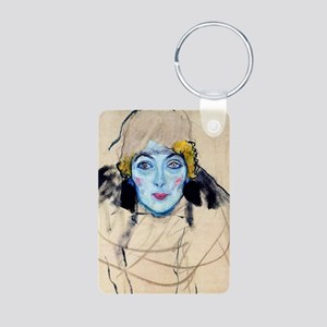 Klimt 18 Aluminum Photo Keychain