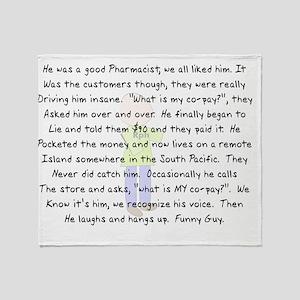 Pharmacist Co Pay 2012 Throw Blanket