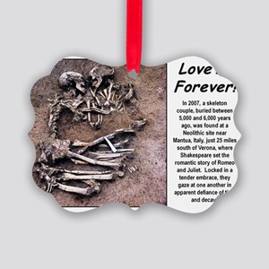 Love is Foever 2 Picture Ornament